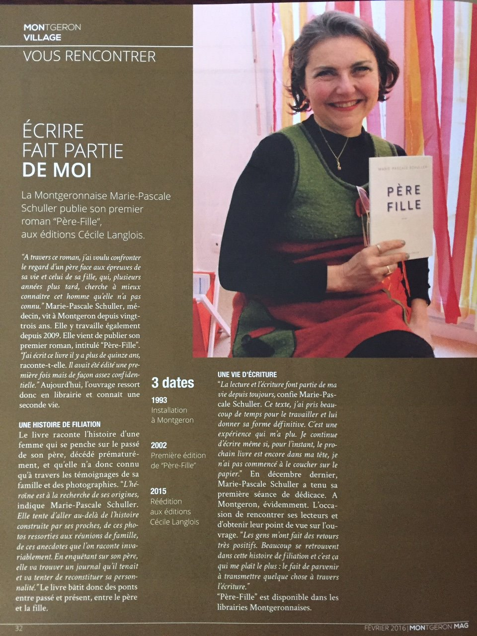 Marie Pascale Schuller article Montgeron